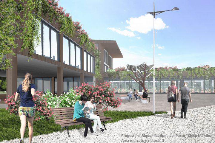 """Proposta di Riqualificazione del Parco """"Chico Mendez"""" (Perugia)- Orti Urbani e Bioarchitettura per un Futuro Verde in piena città."""